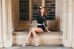 Alexia L. | 8.14.14 (Dan | Hacker | Photography) Tags: model durham photoshoot freckles americanapparel redhair dukegardens dukechapel vscofilm replichrome