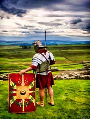 The Romans are still patrolling along Hadrian's Wall. (Dick Shaffer) Tags: england wall roman olympus labs hadrian hdr hadrianswall topaz simplify em1 wwwdickshaffercom