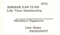 Moon Monster Fan Club Membership Card
