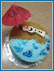 Froze, Olaf cake by Stehpanie, Triad, NC, www.birthdaycakes4free.com