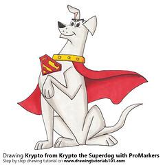 Krypto from Krypto the Superdog with ProMarkers (drawingtutorials101.com) Tags: krypto superdog cartoon tv cartoons warner bros network promarker promarkers markers marker alcohol color coloring draw drawing drawings how