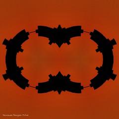 Cofradía (ojoadicto) Tags: digitalmanipulation black orange negro naranja formas forms geometria geometry