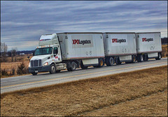 XPO Logistics (raymondclarkeimages) Tags: rci raymondclarkeimages 8one8studios usa trucking freightliner 6d outdoor transportation truck triples xpologistics semi tripletrailers cdl freight logistics 70200mm canon daycab aero diesel