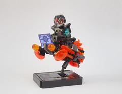 Orange Raven (W. Navarre) Tags: lego speeder lsb stand night line raven orange purple