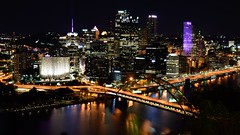 View of Pittsburgh from Duquesne Incline (SchuminWeb) Tags: schuminweb ben schumin web october 2016 pennsylvania pa pittsburgh allegheny county city mount washington mountwashington duquesne incline overlook platform viewing view over look monongahela river rivers ohio tripoint night nighttime point state park pointstatepark bridge bridges infrastructure road roads light lights infra structure structural infrastructural downtown golden triangle goldentriangle building buildings skyscraper skyscrapers high rise highrise highrises rises grandview ave avenue
