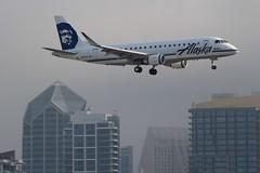 Alaska Airlines (So Cal Metro) Tags: alaska alaskaairlines alaskaair skywest e175 embraer aag regionaljet erj175 n175sy airline airliner airplane aircraft plane jet aviation airport san sandiego lindberghfield
