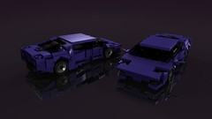 Newest Aventador in dark purple (ron_dayes) Tags: lego lamborghini supercar aventador town modular city car race purple