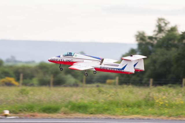 Phil's jet on take off.