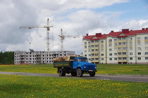 Белорусский пейзаж с ГАЗ-52.  GAZ-52. Belarus, Naroch