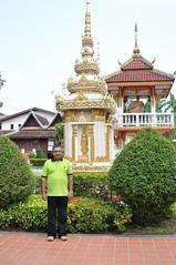 Chedi near the gate of Wat Si Saket (oldandsolo) Tags: southeastasia buddhism laos touristspot chedi vientaine watsisaket buddhistshrine laopdr religiousshrine laoscapital buddhistreligion buddhistfaith