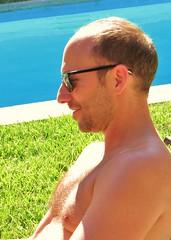 AvMem 095 (danimaniacs) Tags: shirtless man sexy guy beard hunk swimmingpool avmem