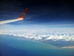 From the airplane window: Brazil (NE coast) (:: through my eyes ::) Tags: brazil window brasil airplane brasilien aerial airplanewindow area windowseat brsil areo