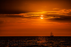 Pirates at sunset (Mido Aboujalala) Tags: sunset orange sun seascape ship top20sunsetsofourhearts