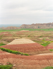 White-capped Hills (blue corgi) Tags: film contrast southdakota landscape highcontrast hills badlandsnationalpark nikonfm2n nikkor50mmf18ais ektar100