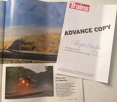 Published - Trains Magazine August 2014 (Allyson Praytor) Tags: published alabama csx hartselle trainsmagazine officecarspecial