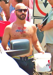 LAPride2 2014 134 (danimaniacs) Tags: shirtless man hot sexy pecs hair beard cheerleaders muscle muscular chest hunk pride parade westhollywood gat bulge csw lapride22014 lpsangeles