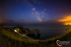 Durdle Door by Night (charlie raven) Tags: travel sky seascape night canon coast fisheye astrophotography dorset coastline jurassic milkyway durdledoor