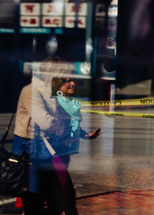 Caution (Oliver Tanning) Tags: seattle reflection canon internationaldistrict 135mmf2l 5dmkiii 5dmk3 olivertanning