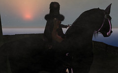 History (TierNLae) Tags: world ocean life horse woman moon sexy castle art beauty fog lady avatar sl attitude fantasy secondlife virtual second keep ccc destrier lumipro