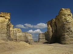 Monument Rocks of Kansas #6 (jimsawthat) Tags: sky clouds rural chalk erosion kansas geology highplains monumentrocks chalkpyramids