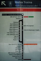 Metra Rock District (Cragin Spring) Tags: chicago train illinois midwest map il transportation commute metra joliet lasallestreetstation rockislanddistrict