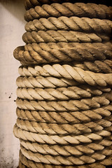 Mooring Rope (Trudy -) Tags: history sepia ship texas rope mooring battleship nautical usstexas texasparksandwildlife