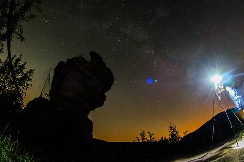 Light pollution - Dragon´s Lair - Drachenhöhle - Drachenfels Rheinland Pfalz -