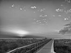 (Pablo Germade) Tags: sunset sea sky blackandwhite bw espaa naturaleza sun byn blancoynegro sol nature clouds sunrise mar spain murcia amanecer cielo nubes sanpedrodelpinatar costacalida pablogermade