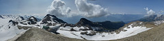 Pointe Plaine-Morte - 180 south panorama (zatixjo) Tags: panorama snow mountains nature landscape schweiz switzerland suisse berge neige paysage valais montagnes swissalps