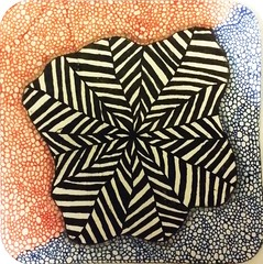 Tangled up! (onenonly782) Tags: colored tangle opticalillusion zentangle sakuramicronpens