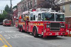 FDNY Engine 224 & Tower Ladder 146 (Triborough) Tags: nyc newyorkcity ny newyork engine firetruck fireengine ladder statenisland fdny richmondcounty towerladder stapelton newyorkcityfiredepartment ladder146 engine224 towerladder146 seagraveseagrave