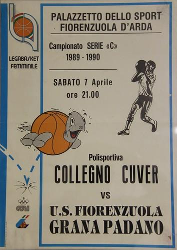 Manifesto Fiorenzuola vs. Collegno Basket - Serie C Femminile