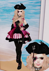 Pink Pirateer (Magnus Vale) Tags: carnival buzz la yum heart morte fantasy pirate captain forge poison atomic pure angelica petite yarr gacha yumyums slink