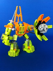 Mine Mech standing (Hen Peril) Tags: monster rock king power lego crystal hard suit miner mech moc