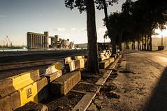 20140831200005 (Jrmie POUTRAIN) Tags: road trees sunset river de soleil boat dock nikon industrial  walk grain silo route arbres rouen promenade area normandie bateau normandy quai zone fleuve couch 2014 industrielle d90