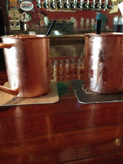 Moscow mules - in the proper cups! At First Amendment
