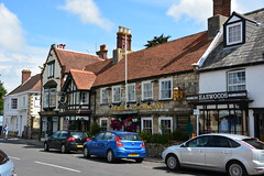 Saint James Square (The Bugle Coaching Inn and Harwoods), Yarmouth, Isle of Wight, 30 June 2014, L0051 (Lynn Rainard) Tags: england saint square james yarmouth isle wight