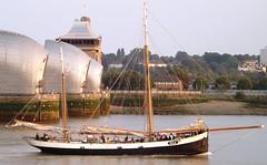 Tecla (1) @ Thames Barrier 07-09-14 (AJBC_1) Tags: uk england london boat ship unitedkingdom vessel tallship riverthames sailingship thamesbarrier tecla ©ajc dlrblog sailroyalgreenwich2014 ©ajc