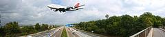Airport Frankfurt (simon.grupp) Tags: panorama plane canon deutschland eos airport frankfurt wolken autobahn flughafen acg sonne hdr spotter 700d