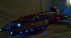 Aurora Exterior Lights (LegoSpaceGuy) Tags: brick ship lego space scifi spaceship sci starship moc classicspace