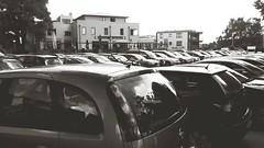 Parkplatz (ThomasKohler) Tags: auto bw white black car parking sw parkplatz weiss schwarz parken kfz