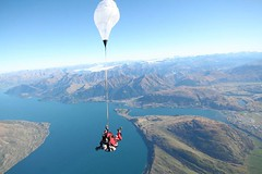 Skydiving over Milford Sound