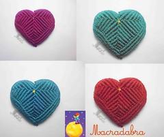 Corazones de Colores #macrame (Macradabra) Tags: love hearts amor detalles regalos corazones regalitos macram amoryamistad macradabra