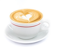 cup of coffee art latte or cappuccino (pawinee.suwannaphoom) Tags: morning food brown white hot art love cup coffee shop closeup breakfast bar lunch cuisine restaurant design milk cafe italian break flavor heart drink sweet chocolate background beverage cream tasty plate bean valentine fresh delicious mocha foam mug espresso leisure latte caffeine cappuccino barista addiction isolated saucer aroma froth wite