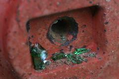 Red Hub (FilmandFocusPhoto) Tags: red macro green abandoned glass canon outdoors 50mm rust rusty sigma soviet todayspic macrophotography macrodreams