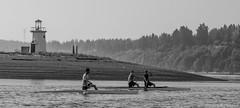 The little lighthouse (c kasperbauer) Tags: ocean lighthouse beach water boats canoe c2 c1