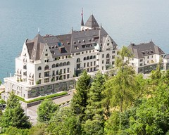 Park Hotel Vitznau on Lake Lucerne, Central Switzerland (jag9889) Tags: lake seascape tree hotel schweiz switzerland europe suisse suiza outdoor swiss lodging luzern aerialview alpine svizzera lucerne ch vierwaldstttersee lakelucerne parkhotel 2015 vitznau innerschweiz zentralschweiz centralswitzerland kantonluzern cantonlucerne suizra jag9889 20150622