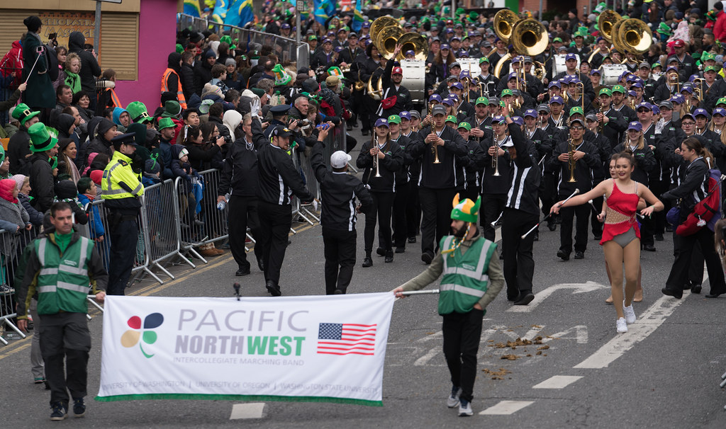 Pacific Northwest Intercollegiate Marching Band [St. Patricks Day Parade In Dublin 2017]-125714