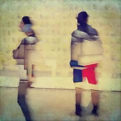 Museum Onlookers (karen axelrad (karenaxe)) Tags: yougottaseethis slowshutter icolorama icpainter stackablesapp dianaphotoapp handyphoto painterly iphoneography texturesquared