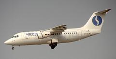 BAe146   OO-DJK   BRU   19960316 (Wally.H) Tags: bae146 british aerospace 146 rj85 oodjk sabena dat deltaairtransport bru ebbr brussels zaventem airport